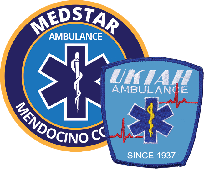 Medstar and Ukiah Ambulance patches